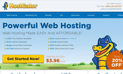 wordpress web hosting hostgator