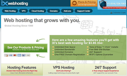 wordpress web hosting ixwebhosting