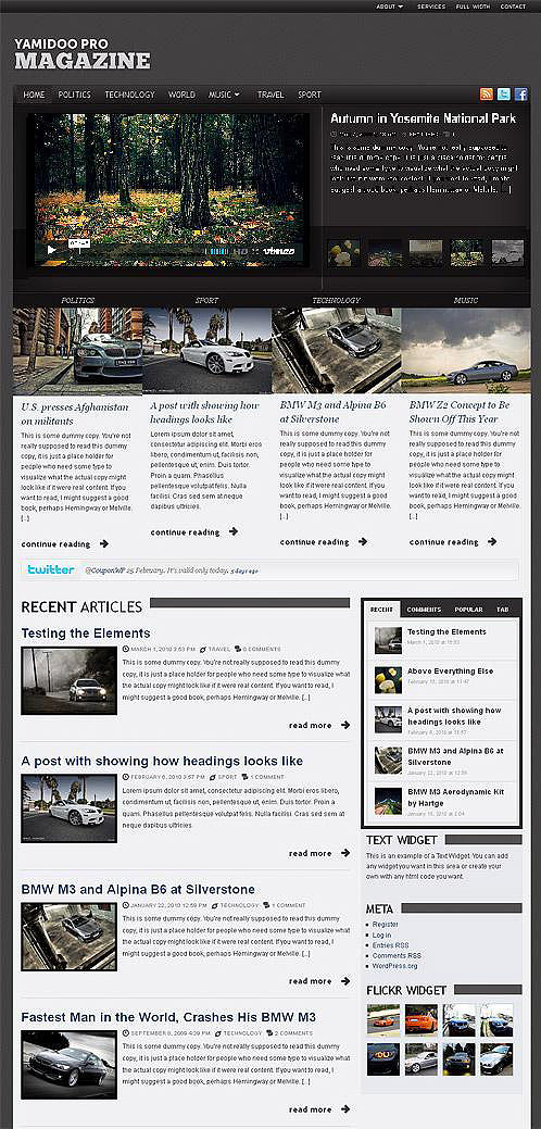 yamidoo PRO magazine wordpress theme