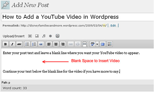 youtube to wordpress